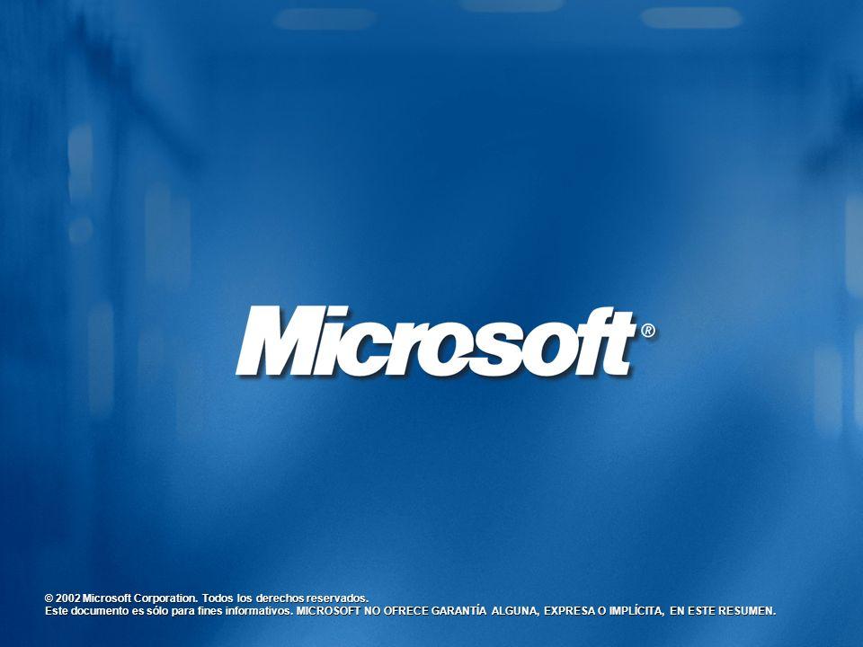© 2002 Microsoft Corporation. Todos los derechos reservados.