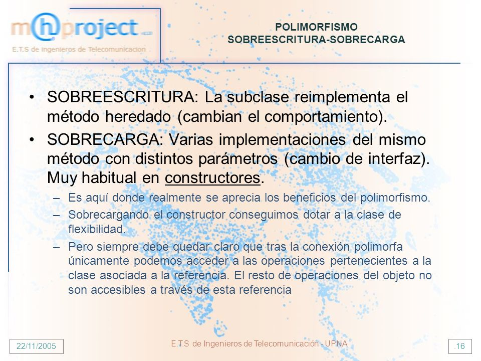 POLIMORFISMO SOBREESCRITURA-SOBRECARGA