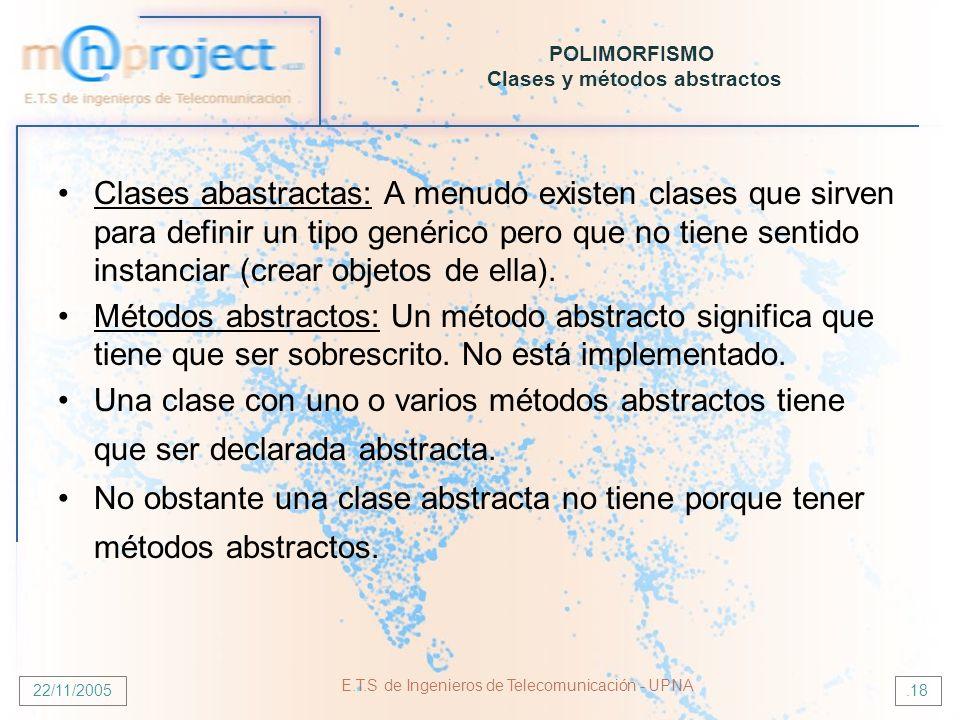 POLIMORFISMO Clases y métodos abstractos