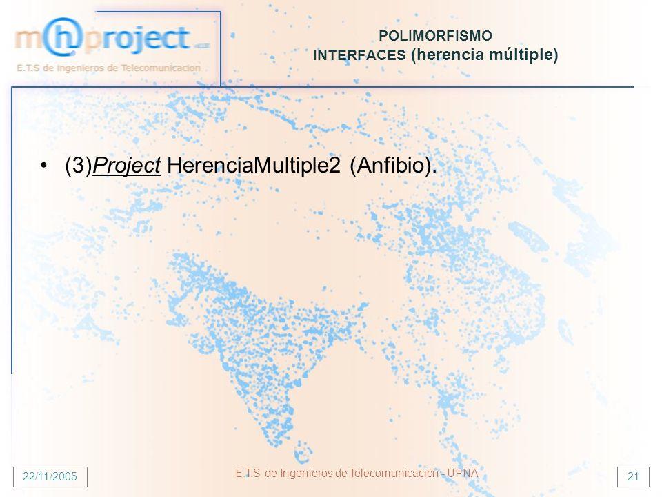 POLIMORFISMO INTERFACES (herencia múltiple)