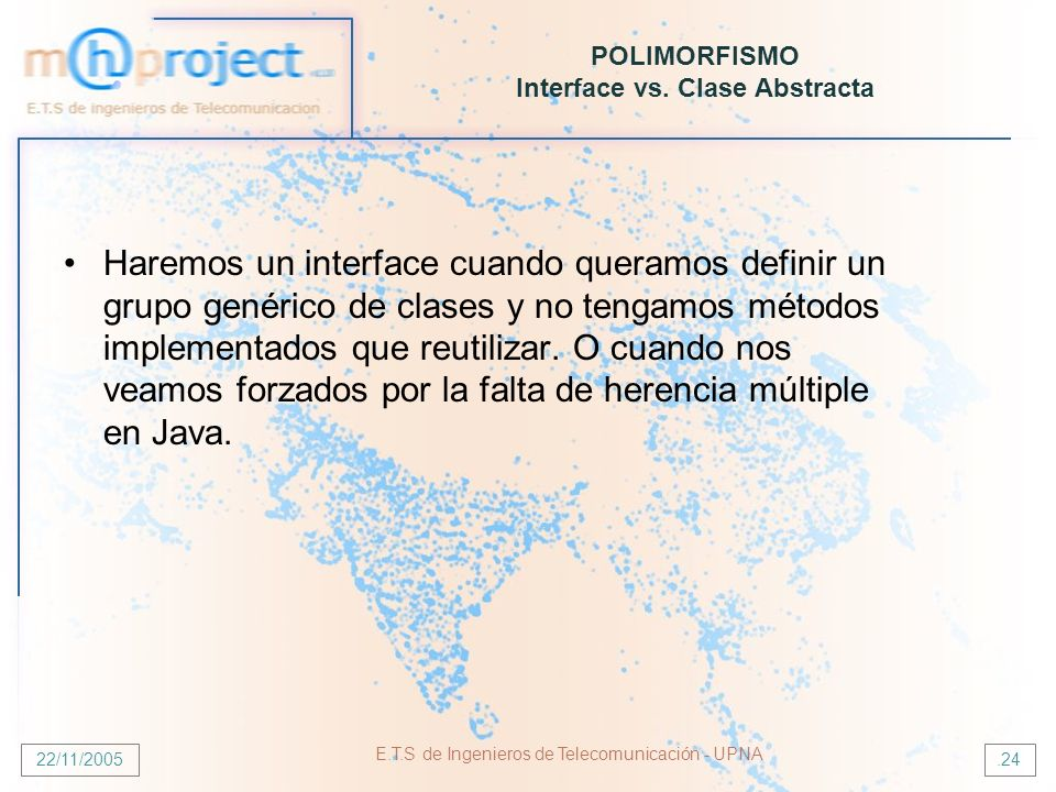 POLIMORFISMO Interface vs. Clase Abstracta