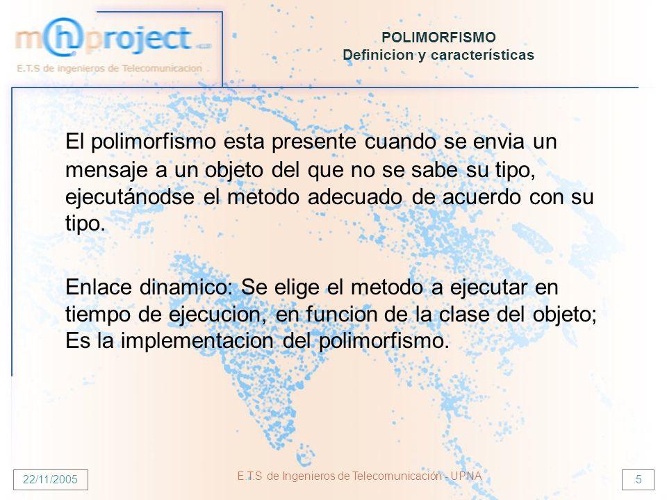 POLIMORFISMO Definicion y características