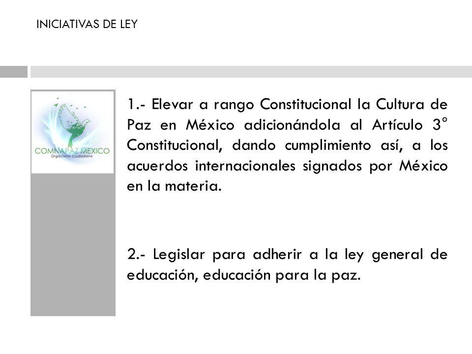 INICIATIVAS DE LEY