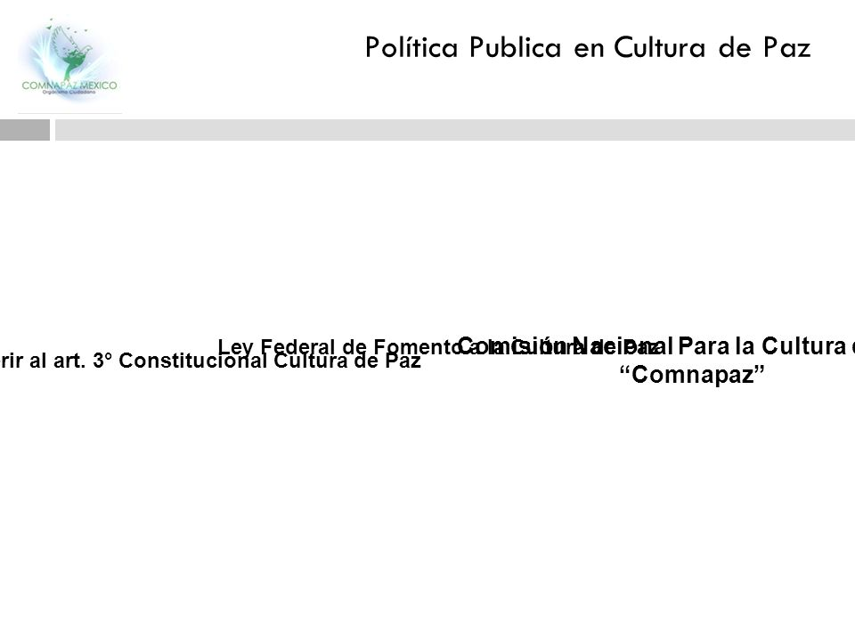 Política Publica en Cultura de Paz
