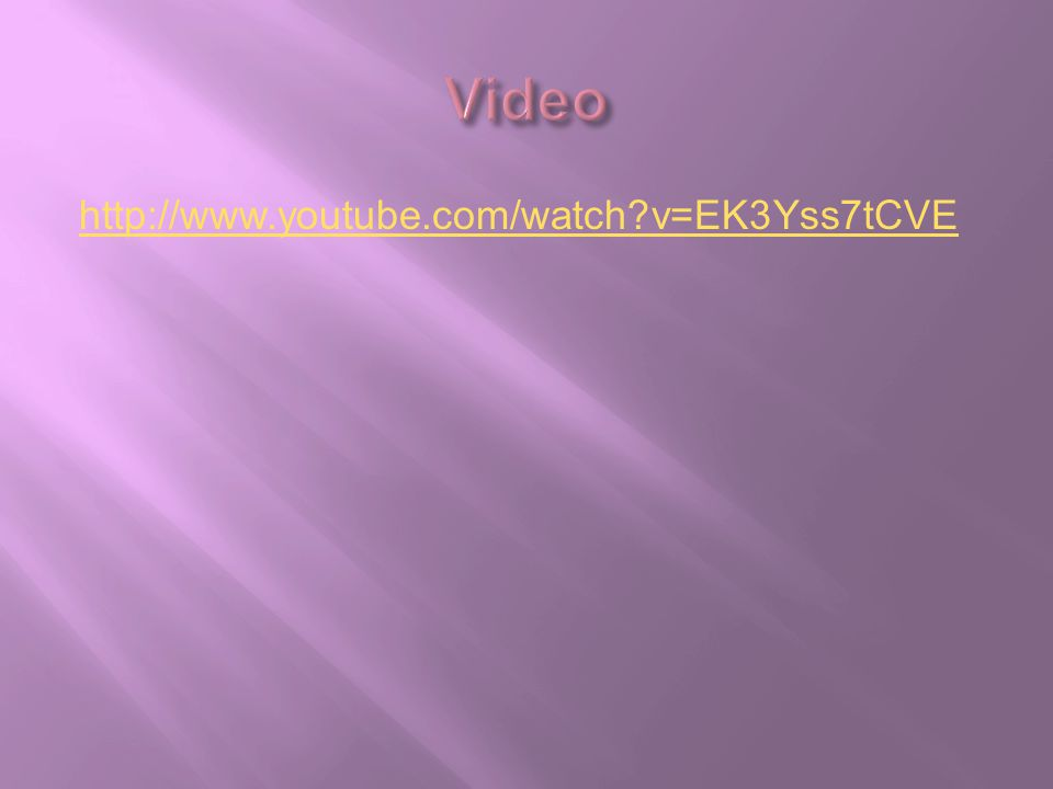 Video http://www.youtube.com/watch v=EK3Yss7tCVE