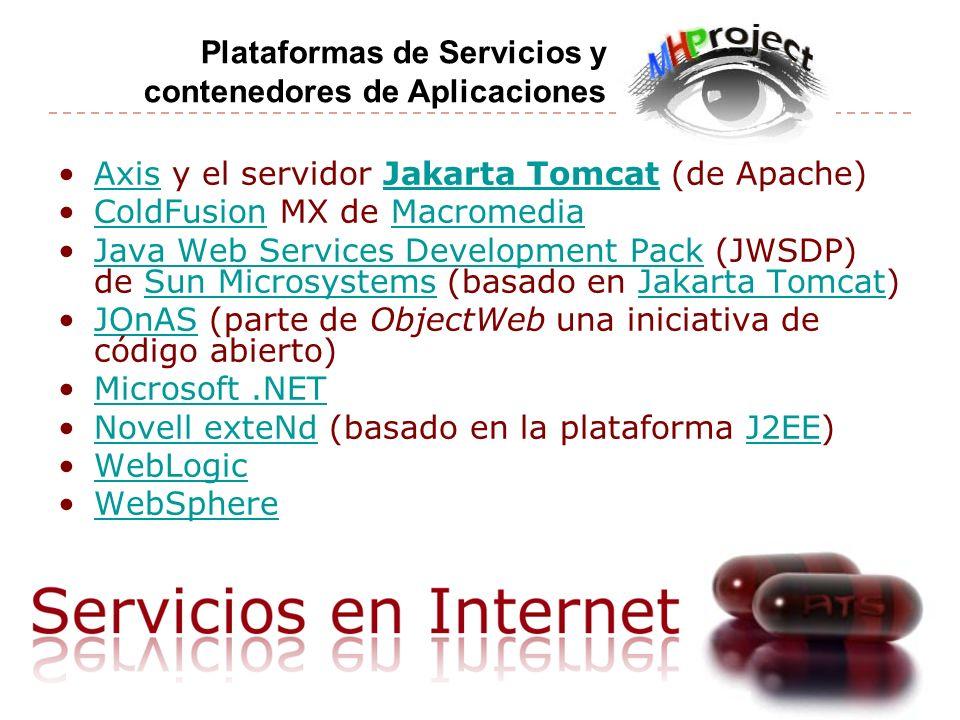 Plataformas de Servicios y contenedores de Aplicaciones