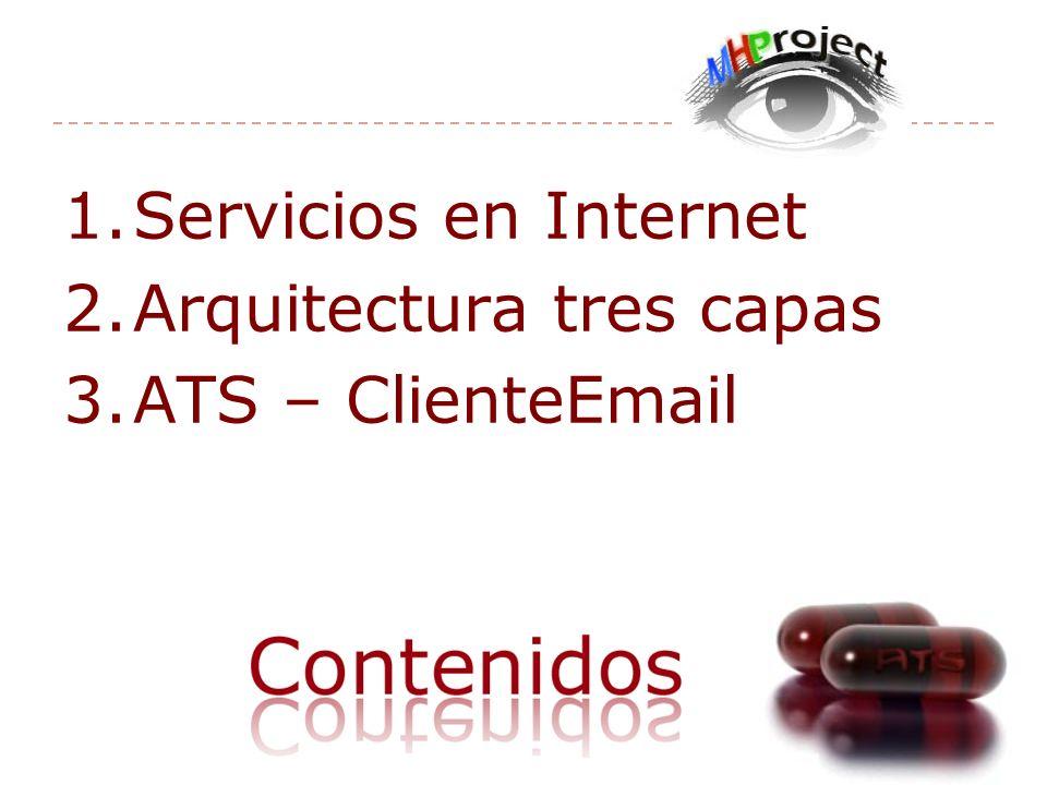 Servicios en Internet Arquitectura tres capas ATS – ClienteEmail
