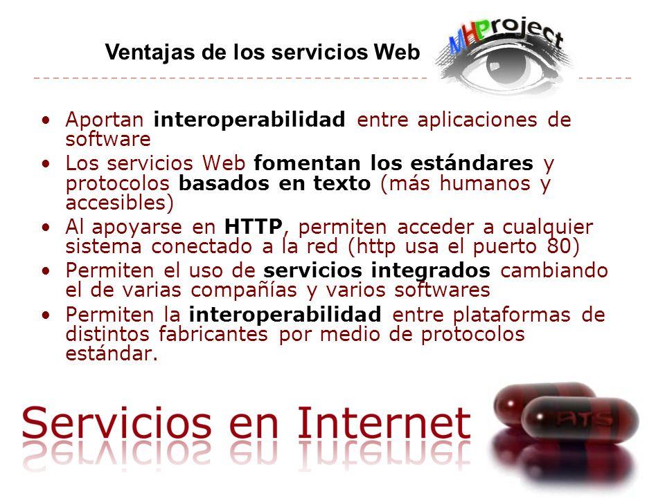 Ventajas de los servicios Web