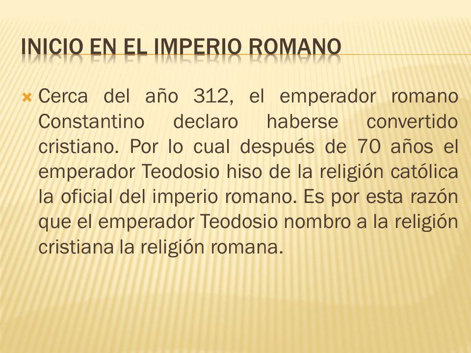 Inicio en el imperio romano