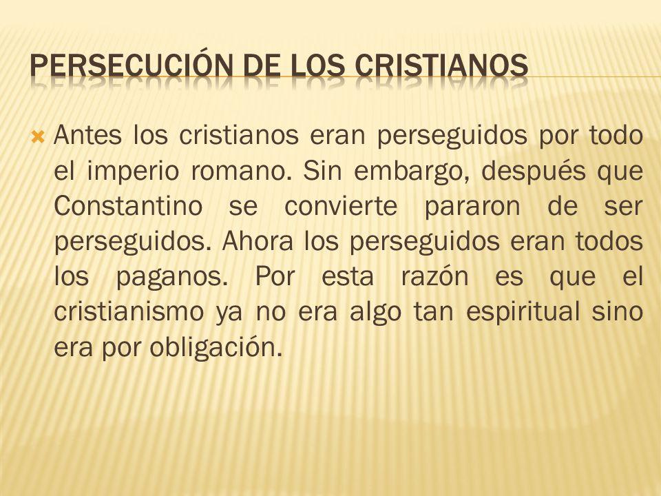 Persecución de los cristianos