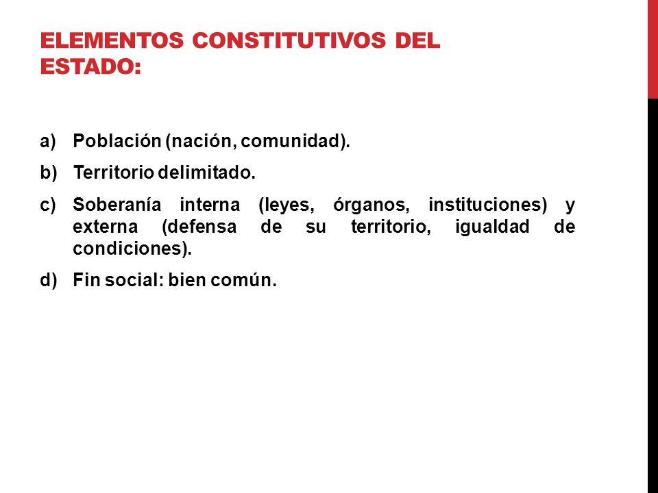 ELEMENTOS CONSTITUTIVOS DEL ESTADO: