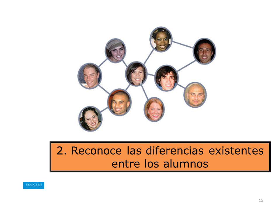 2. Reconoce las diferencias existentes entre los alumnos