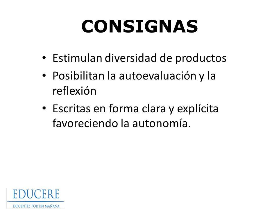 CONSIGNAS Estimulan diversidad de productos