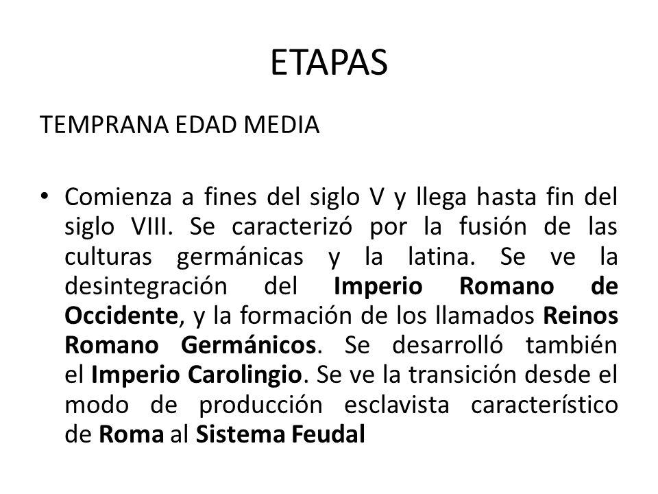 ETAPAS TEMPRANA EDAD MEDIA