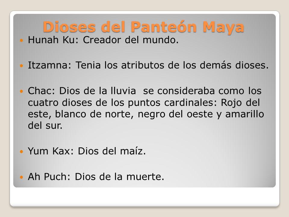 Dioses del Panteón Maya
