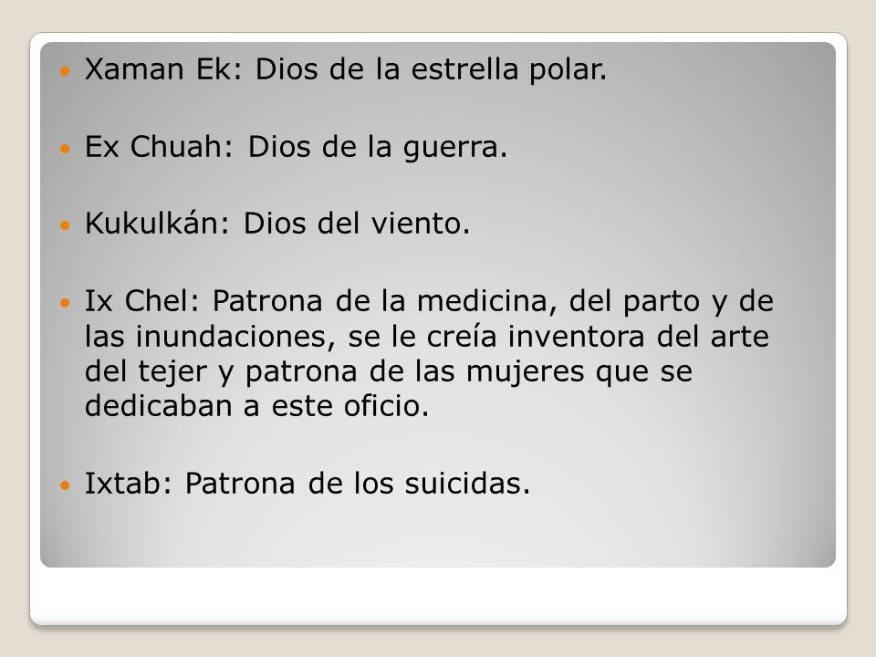 Xaman Ek: Dios de la estrella polar.