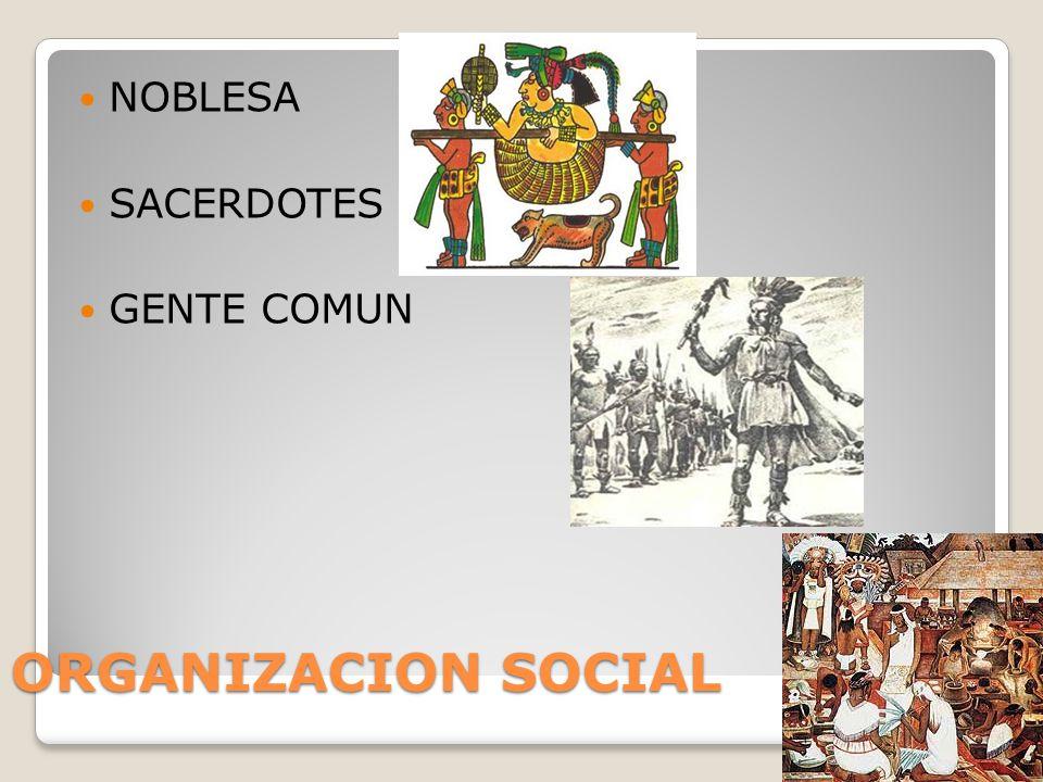 NOBLESA SACERDOTES GENTE COMUN ORGANIZACION SOCIAL