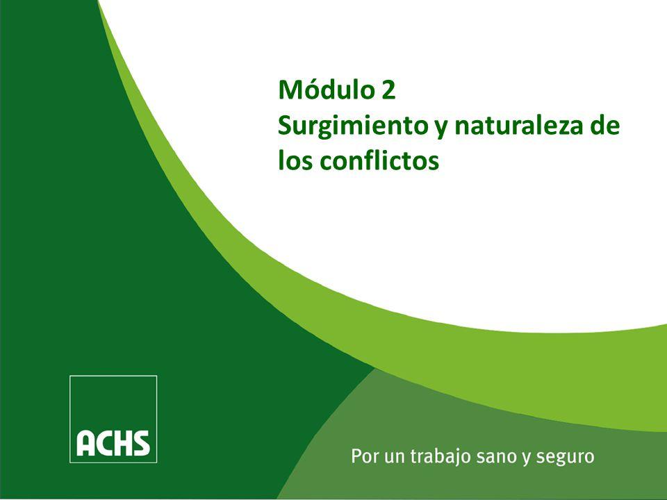 Módulo 2 Surgimiento y naturaleza de los conflictos