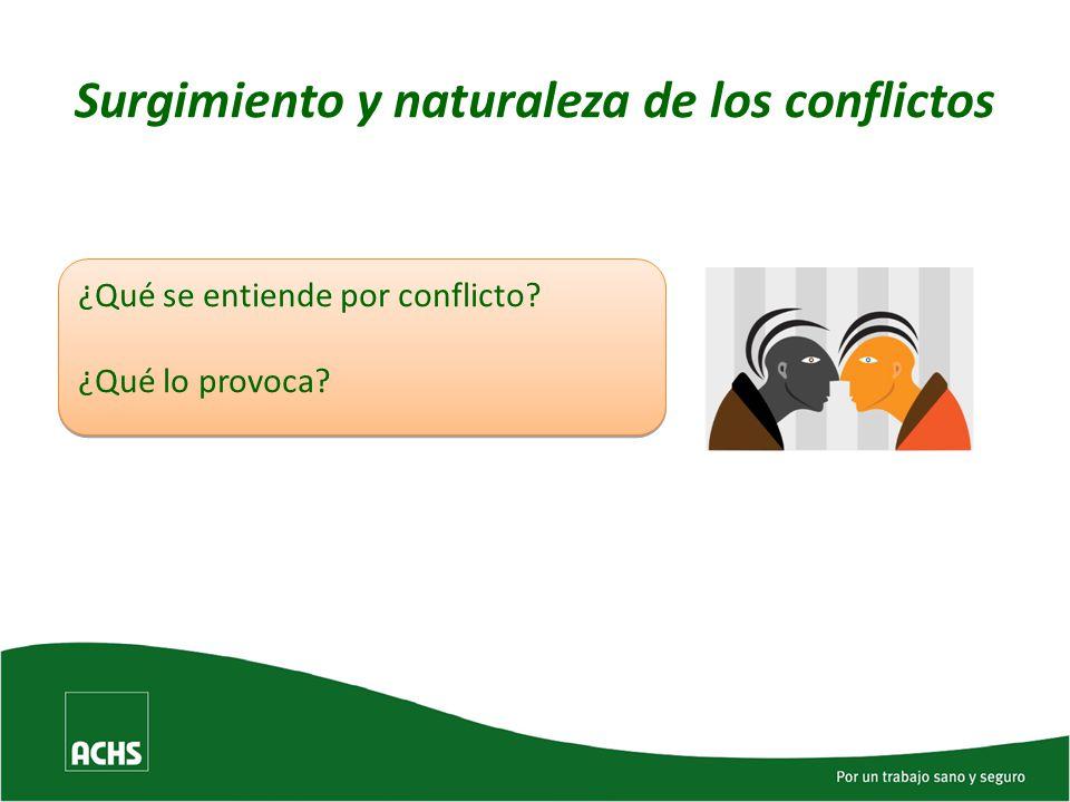 Surgimiento y naturaleza de los conflictos