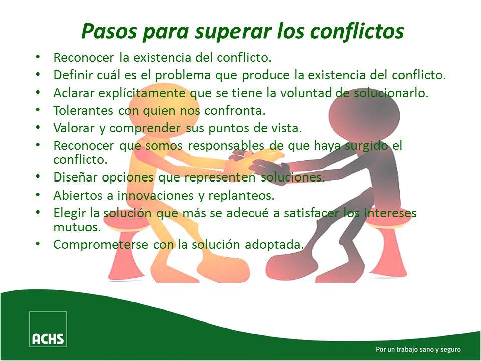 Pasos para superar los conflictos