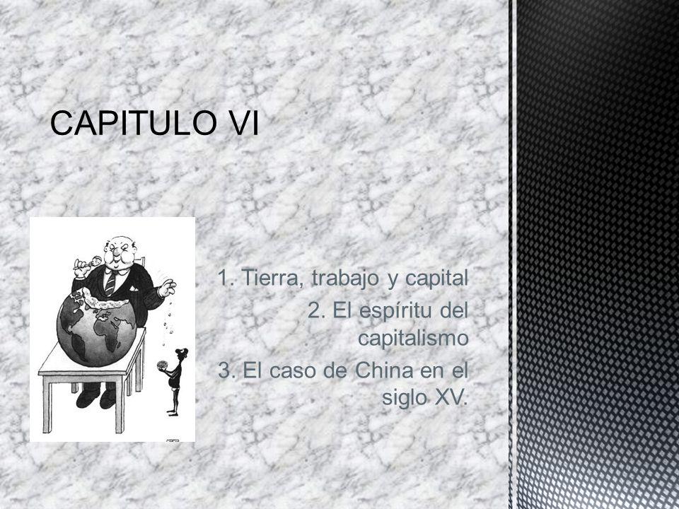 CAPITULO VI 1. Tierra, trabajo y capital