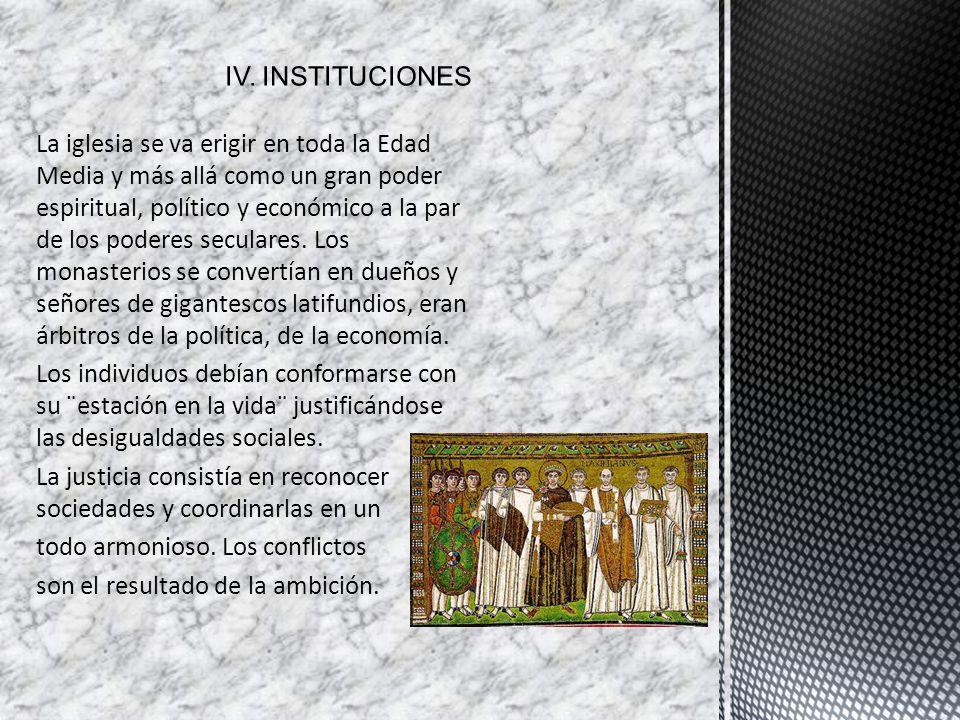 IV. INSTITUCIONES