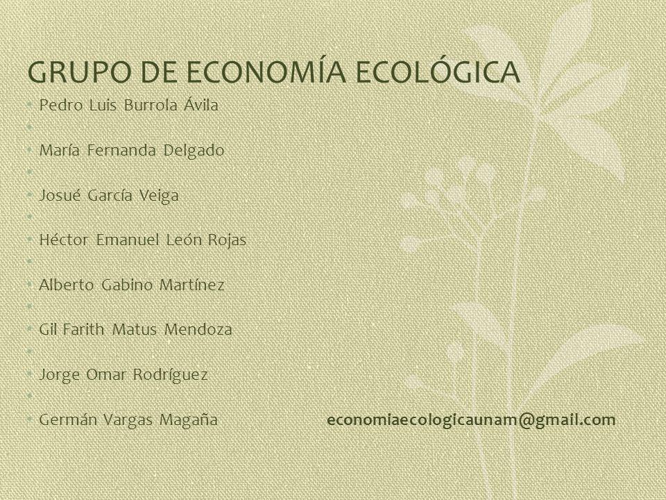 GRUPO DE ECONOMÍA ECOLÓGICA