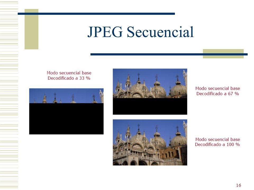 JPEG Secuencial