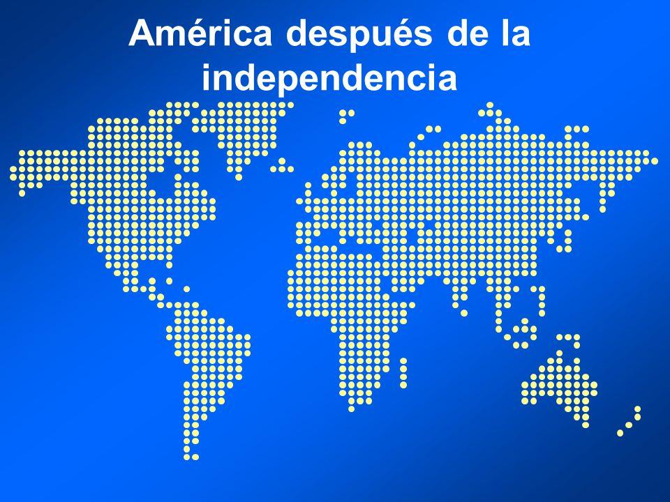 América después de la independencia