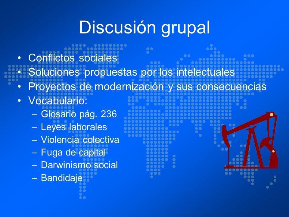 Discusión grupal Conflictos sociales