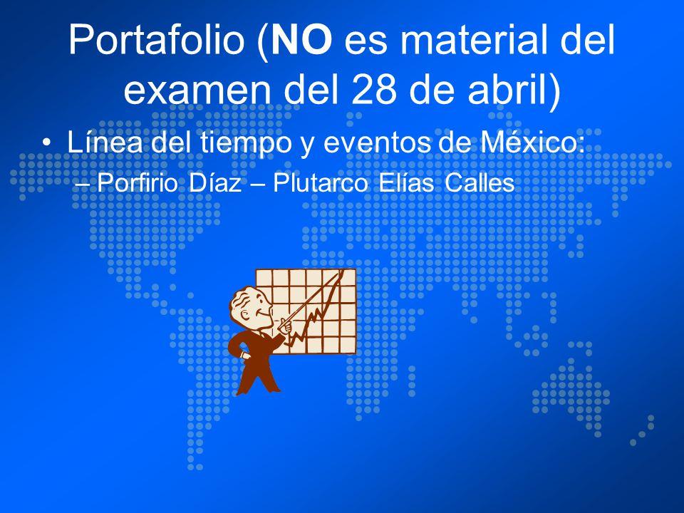 Portafolio (NO es material del examen del 28 de abril)