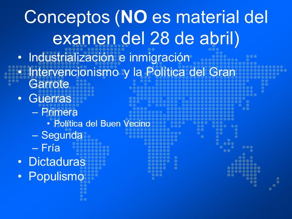 Conceptos (NO es material del examen del 28 de abril)