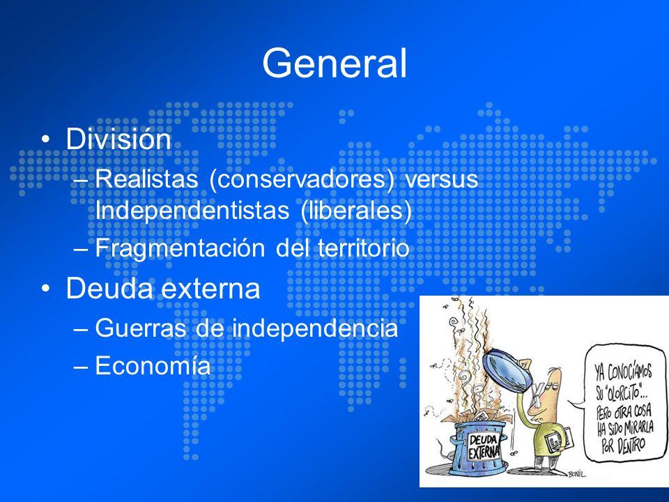 General División Deuda externa
