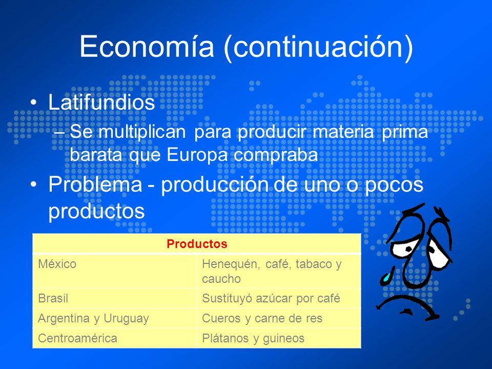 Economía (continuación)