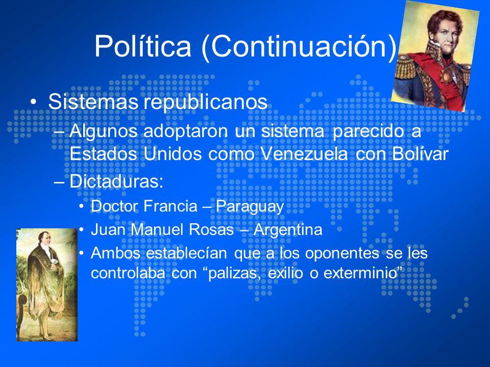 Política (Continuación)
