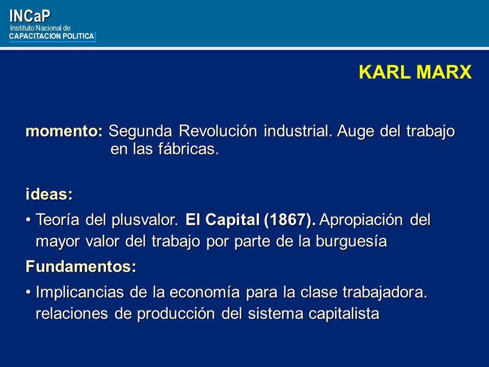 INCaP Instituto Nacional de. CAPACITACION POLITICA. KARL MARX.