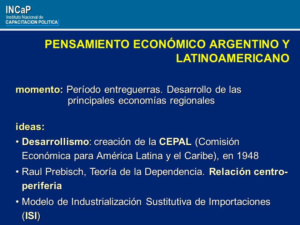 PENSAMIENTO ECONÓMICO ARGENTINO Y LATINOAMERICANO