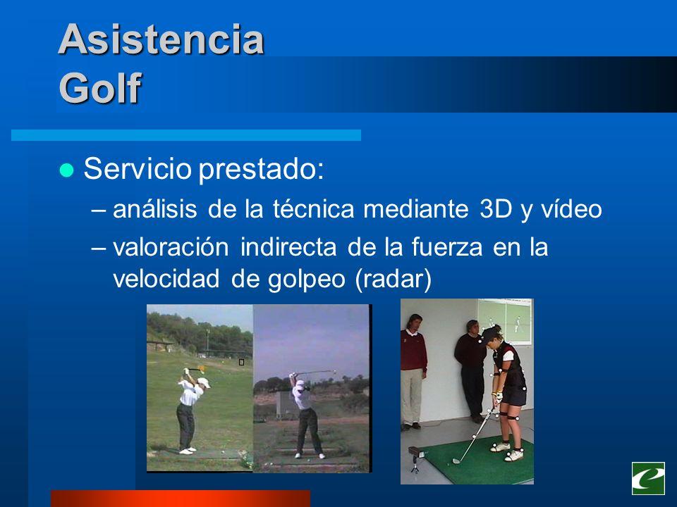 Asistencia Golf Servicio prestado: