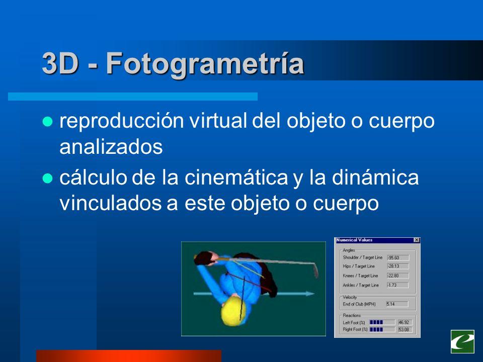 3D - Fotogrametría reproducción virtual del objeto o cuerpo analizados