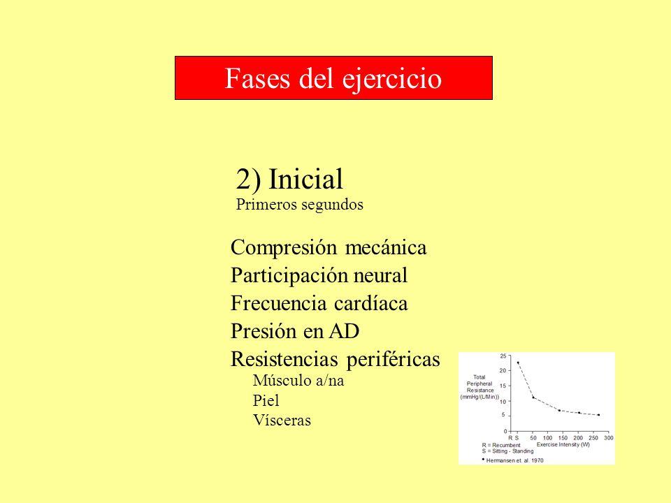 Fases del ejercicio 2) Inicial Compresión mecánica