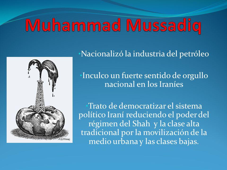 Muhammad Mussadiq Nacionalizó la industria del petróleo