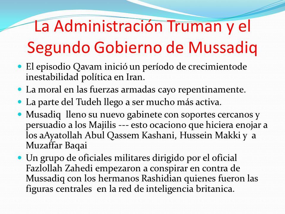 La Administración Truman y el Segundo Gobierno de Mussadiq