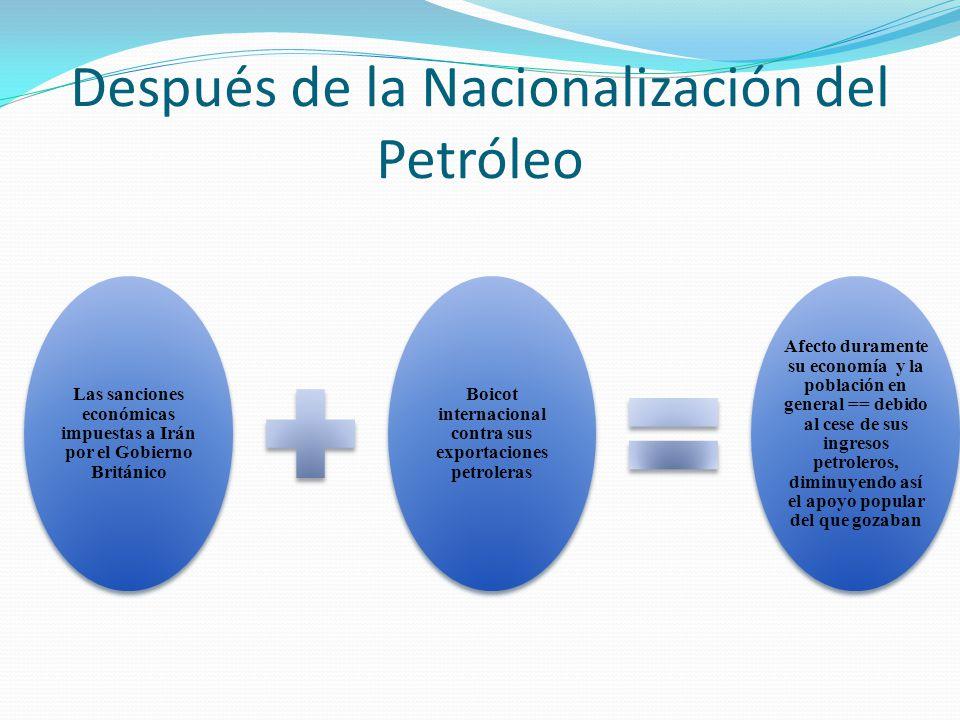 Después de la Nacionalización del Petróleo