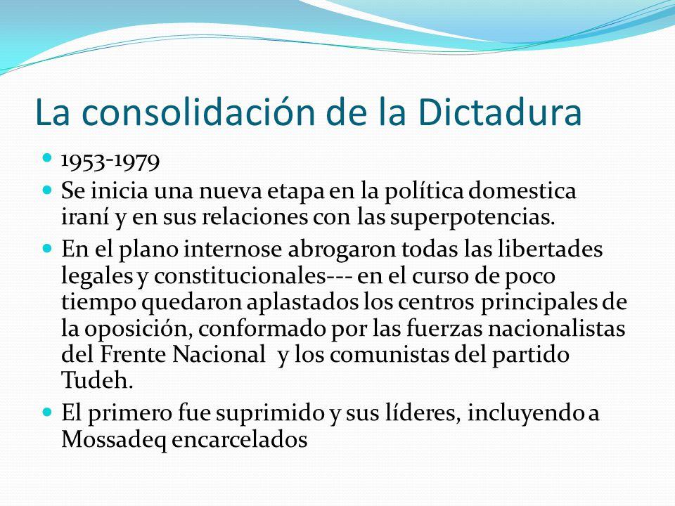 La consolidación de la Dictadura