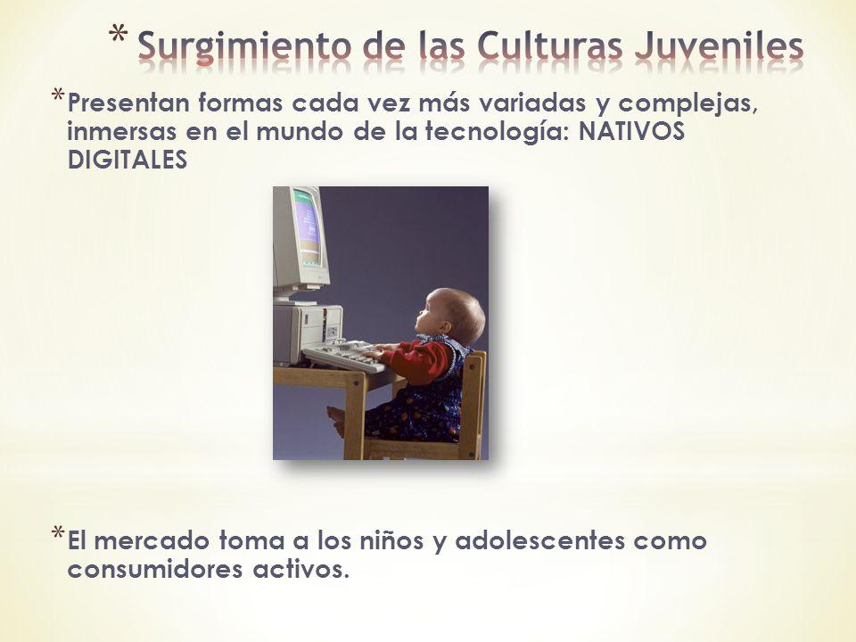 Surgimiento de las Culturas Juveniles