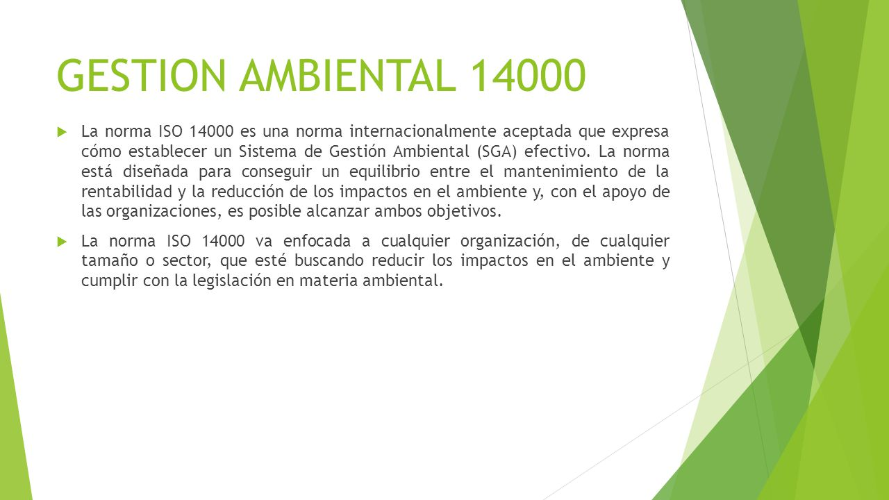 GESTION AMBIENTAL 14000