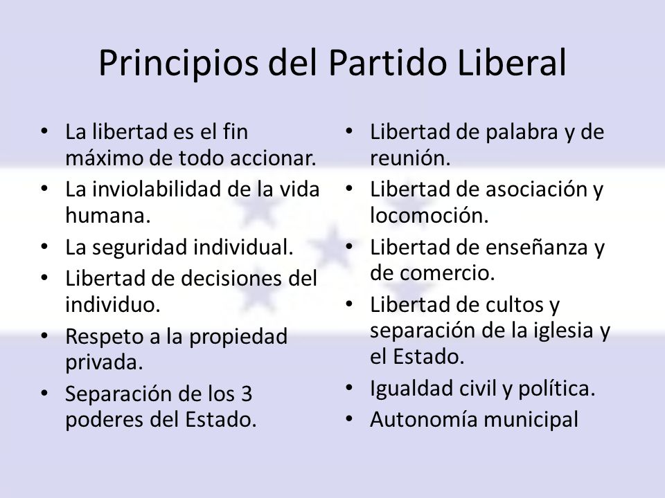 Principios del Partido Liberal