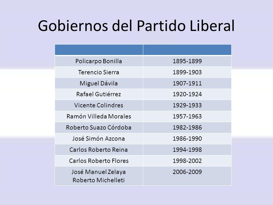 Gobiernos del Partido Liberal