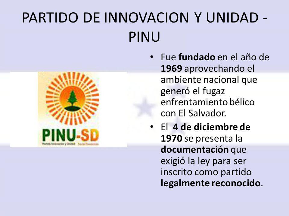 PARTIDO DE INNOVACION Y UNIDAD - PINU