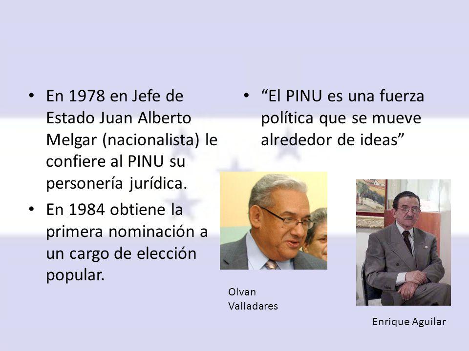 En 1984 obtiene la primera nominación a un cargo de elección popular.